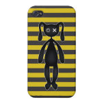 Goth Yellow and Black Bunny iPhone 4/4S Covers