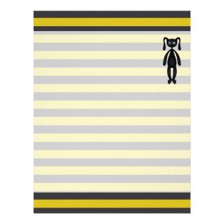 Goth Yellow and Black Bunny Letterhead
