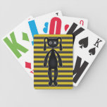 Goth Yellow and Black Bunny Poker Deck