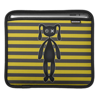 Goth Yellow and Black Bunny Sleeve For iPads