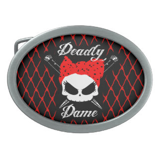 Gothabilly Dame Oval Belt Buckle