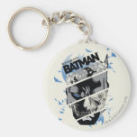 Gotham City Batman Skull Collage Keychain