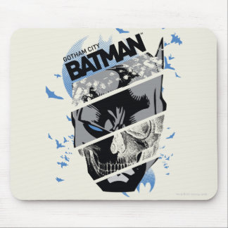 Gotham City Batman Skull Collage Mouse Pad