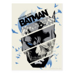 Gotham City Batman Skull Collage Post Card