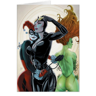 Gotham City Sirens Cv4 Greeting Cards