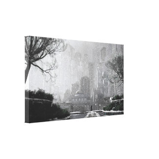 Gotham Garden (Winter) Canvas Print