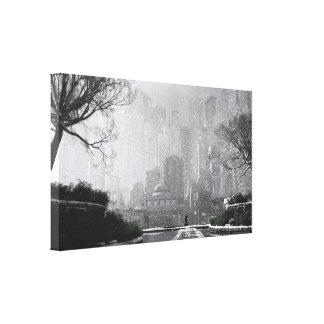 Gotham Garden (Winter) Canvas Print