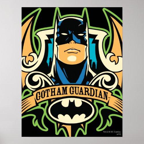 Vintage Batman Gotham Guardian Poster