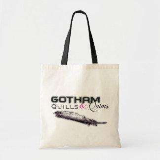 Gotham Quills & Quims Tote - White2 Canvas Bag