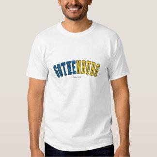 Gothenburg in Sweden national flag colors T-shirt