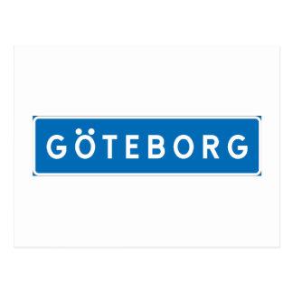 Gothenburg, Swedish road sign Postcard