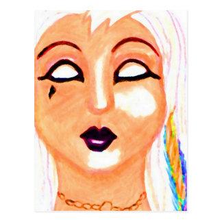 Gothia - diseño de la máscara del gótico - materia postales