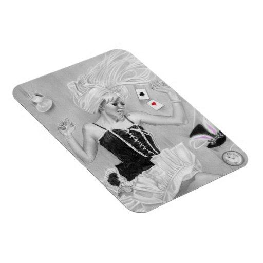 Gothic Alice in Wonderland Falling Premium Flexi M Rectangular Magnets