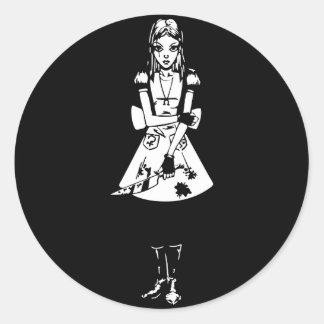 Gothic Alice Round Sticker