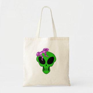 Gothic Alien Girl Skull V1 Bag