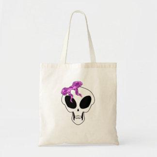 Gothic Alien Girl Skull V2 Bag