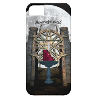 Gothic Alter Full Moon Candles black burgundy iPhone SE/5/5s Case