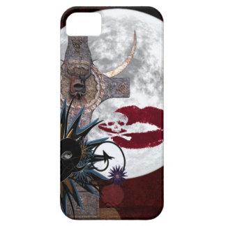 Gothic Alter Full Moon skull crossbones black red iPhone SE/5/5s Case