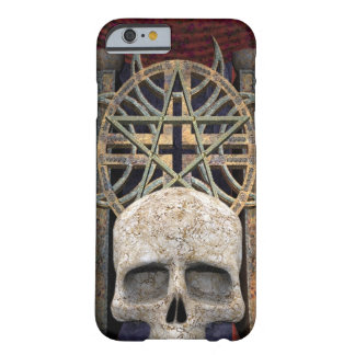 Gothic Alter Human Skull gray gold maroon Barely There iPhone 6 Case