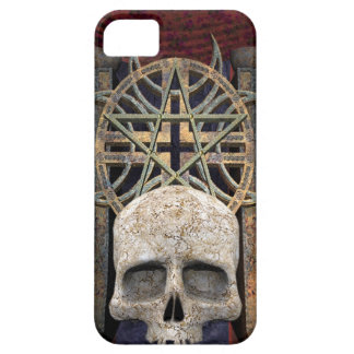 Gothic Alter Human Skull gray gold maroon iPhone SE/5/5s Case