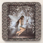 Gothic Angel and Her Dove Drink Coaster