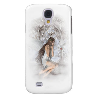 Gothic Angel and Her Dove Vignette Galaxy S4 Case