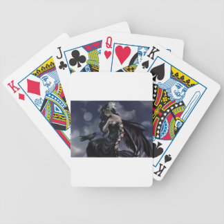 Gothic angel bicycle playing cards