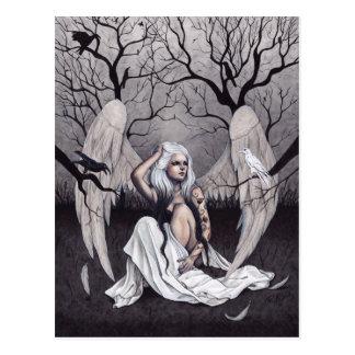 Gothic Angel Black White Hope Despair Postcard