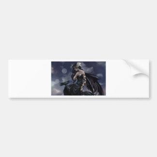 Gothic angel bumper sticker