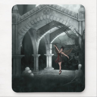 Gothic Angel Dancing by piles of Skulls Mouse Pad
