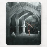 Gothic Angel Dancing by piles of Skulls Mousepad