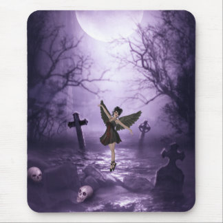 Gothic Angel Dancing in Graveyard Mouse Pad
