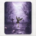 Gothic Angel Dancing in Graveyard Mousepads