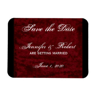 Gothic Angel on Red Velvet Save the Date Magnet