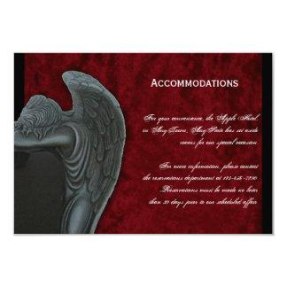 Gothic Angel on Red Velvet Wedding Accomodations Card