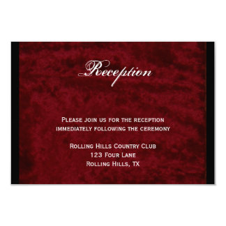 Gothic Angel on Red Velvet Wedding Reception Card