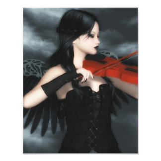 Gothic Angel Playing The Violin Photo Print