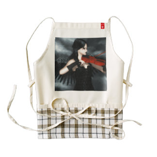 Gothic Angel Playing The Violin Zazzle HEART Apron