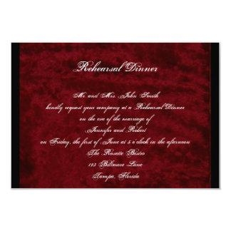 Gothic Angel Red Velvet Wedding Rehearsal Dinner Card