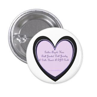 Gothic Angels & A Dolls Heart 1 Inch Round Button