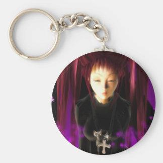 Gothic Anime Schoolgirl Keychain
