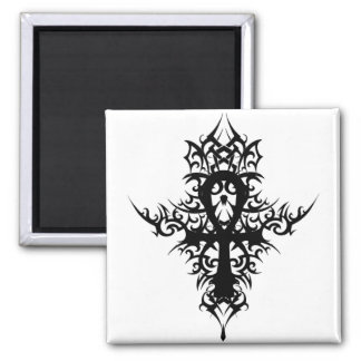 Gothic Ankh 2 Inch Square Magnet