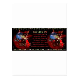 Gothic Aquarius Zodiac astrology by Valxart.com Postcard