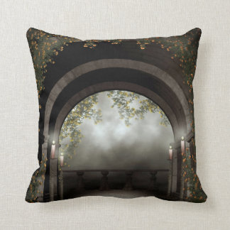 Gothic Arch Balcony Throw Pillow