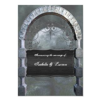 Gothic Arch Plaque Vampire Goth Wedding 5x7 Paper Invitation Card