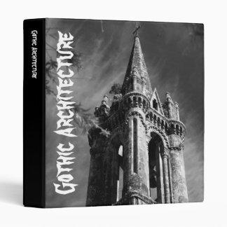 Gothic architecture 3 ring binder