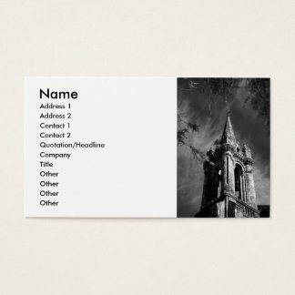 Gothic architecture business card