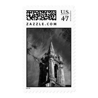 Gothic architecture postage stamp