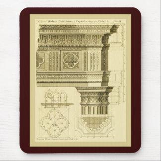 Gothic Architecture Vintage Fine Art Print Mousepads