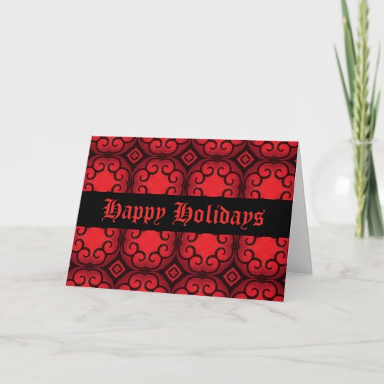 gothic aristrocrat victorian deco happy holidays holiday card - Happy Holidays Card